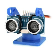 Ultrasonic Distance Measuring Transducer Module Kit w/ 9g Servo - Blue - $14.00
