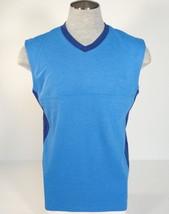 Nike Golf Dri Fit Standard Fit V Neck Blue Wool Blend Vest Mens NWT - $67.49