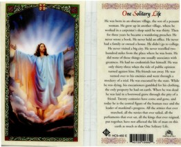 One Solitary Life Prayer Holy Card New Laminated From Cromo Italy JimsSt... - $2.79
