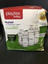 Playtex Baby Nurser With Drop-ins Liners Anti-Colic Feed  Gift Set,NIB-16D - $21.29