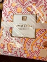 Pottery Barn Teen Tea Paisley Duvet Cover Queen Pink Yellow No Shams  - $99.00