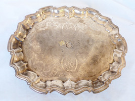 "VTG Old English Silver Plated Footed 14.5""x11.25"" Serving Tray warming h... - $178.20"