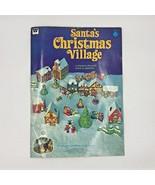 Vintage 1975 Whitman Santas Christmas Village Unused Paper Book SEE DESC... - $89.95