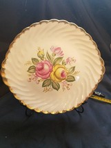 "1930-1940 Quban Royal Royal China 22K Gold Floral Pattern 11"" Serving Platter - $16.82"