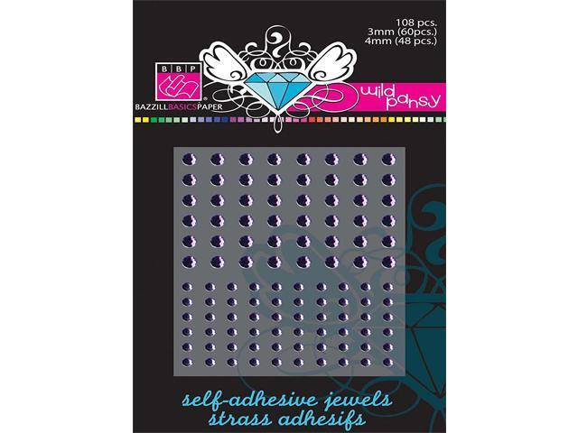 Bazzill Basics Wild Pansy Rhinestone Stickers