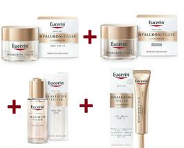 Eucerin Full Lot Hyaluron Filler Elasticity day + night + Eye creme + oil serum - $158.39