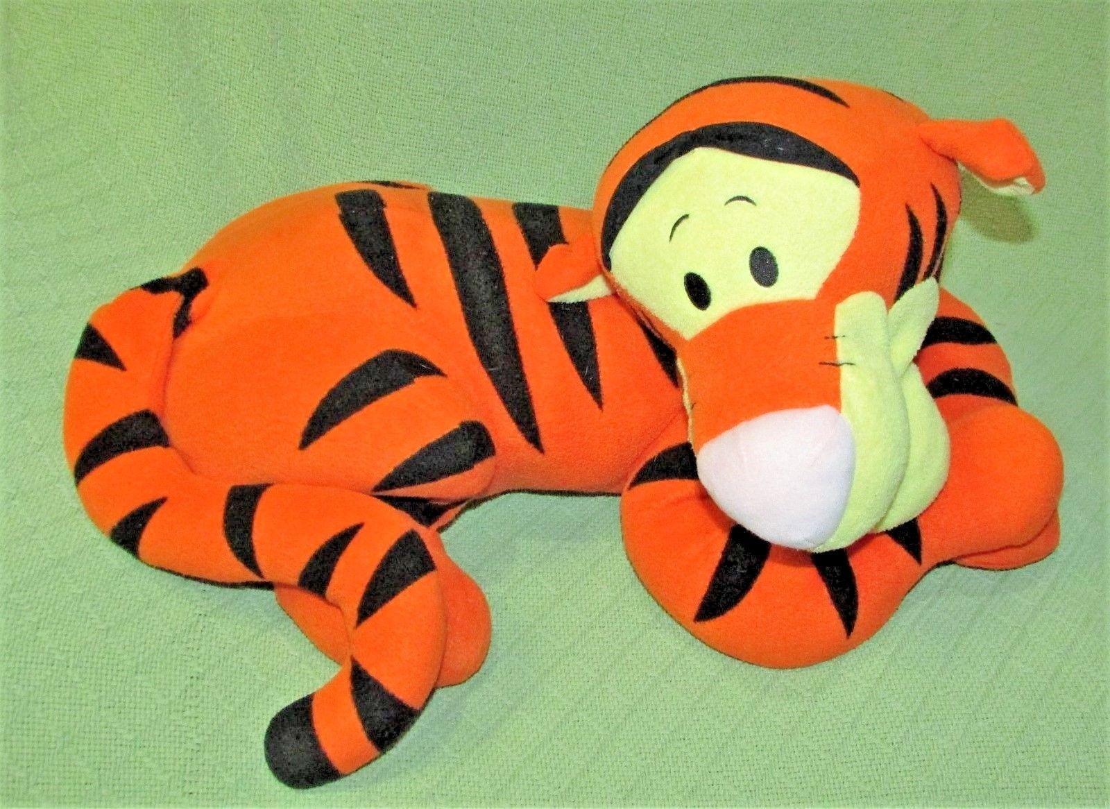 "Disney LOUNGING TIGGER 22"" Stuffed Animal PILLOW Plush Winnie Pooh Friends Jumbo"