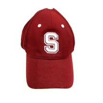 VINTAGE University Of Stanford Cardinal Hat Cap Size 7 1/8 Fitted Maroon Red 90s - $27.33