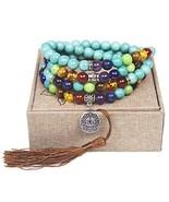 Leefi Turquoise - Tibetan Mala Prayer Japa Turquoise Necklace - 108 Turq... - $24.95