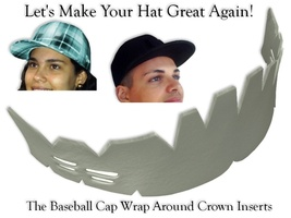 1Pk Wrap Around Cap Insert| Fitted Hat Liner| Hat Shaper Cleaning Aide| ... - $6.41+
