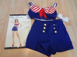 Women's On Deck Darling M (8/10) Costume Outfit Leg Avenue 3-Piece Hallo... - $37.39