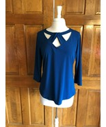 NY&C 7th Avenue Design Studio Teal 3/4 Sleeve Top Med. - $14.85