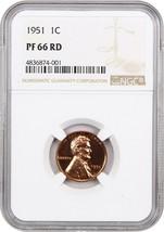 1951 1c NGC PR 66 RD - Lincoln Cent - $92.15