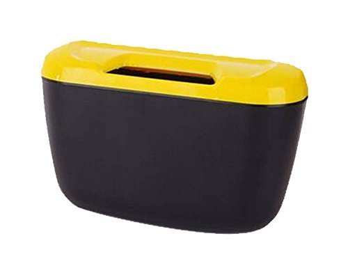 PANDA SUPERSTORE Fashionable Car Trash Cans/Green Box/Storage Box, Yellow