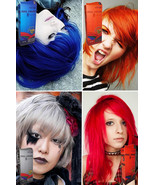 PREMIUM Permanent Hair COLOR Cream Dye Punk Rock Red Blue Orange Grey Vi... - $11.59