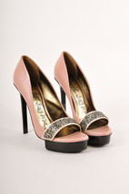 Lanvin Pink Leather Embellished Platform Pumps SZ 39 - $350.00