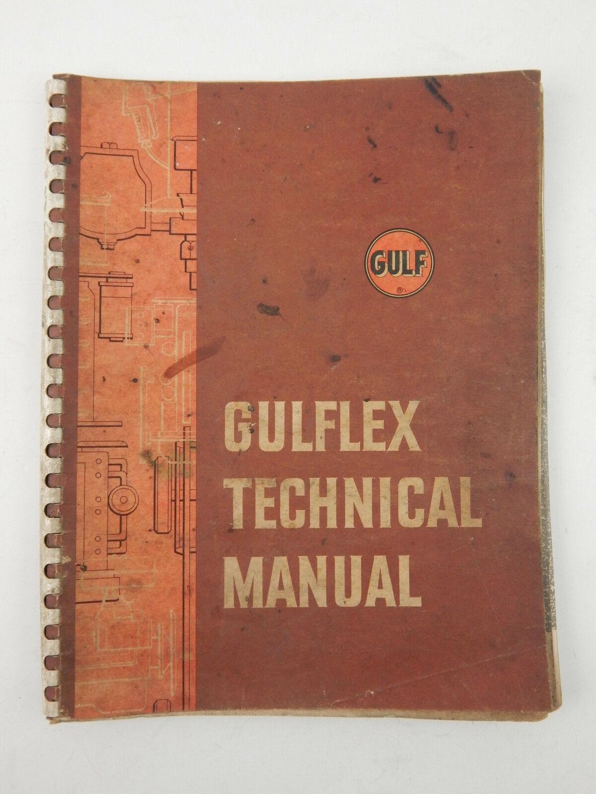 VINTAGE GULF 1959 GULFLEX TECHNICAL MANUAL COMPLETE - $15.48