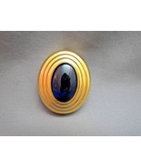 Boucheron Parfums solid perfume pendant gold Plated Pendant Cobalt Blue ... - $39.59
