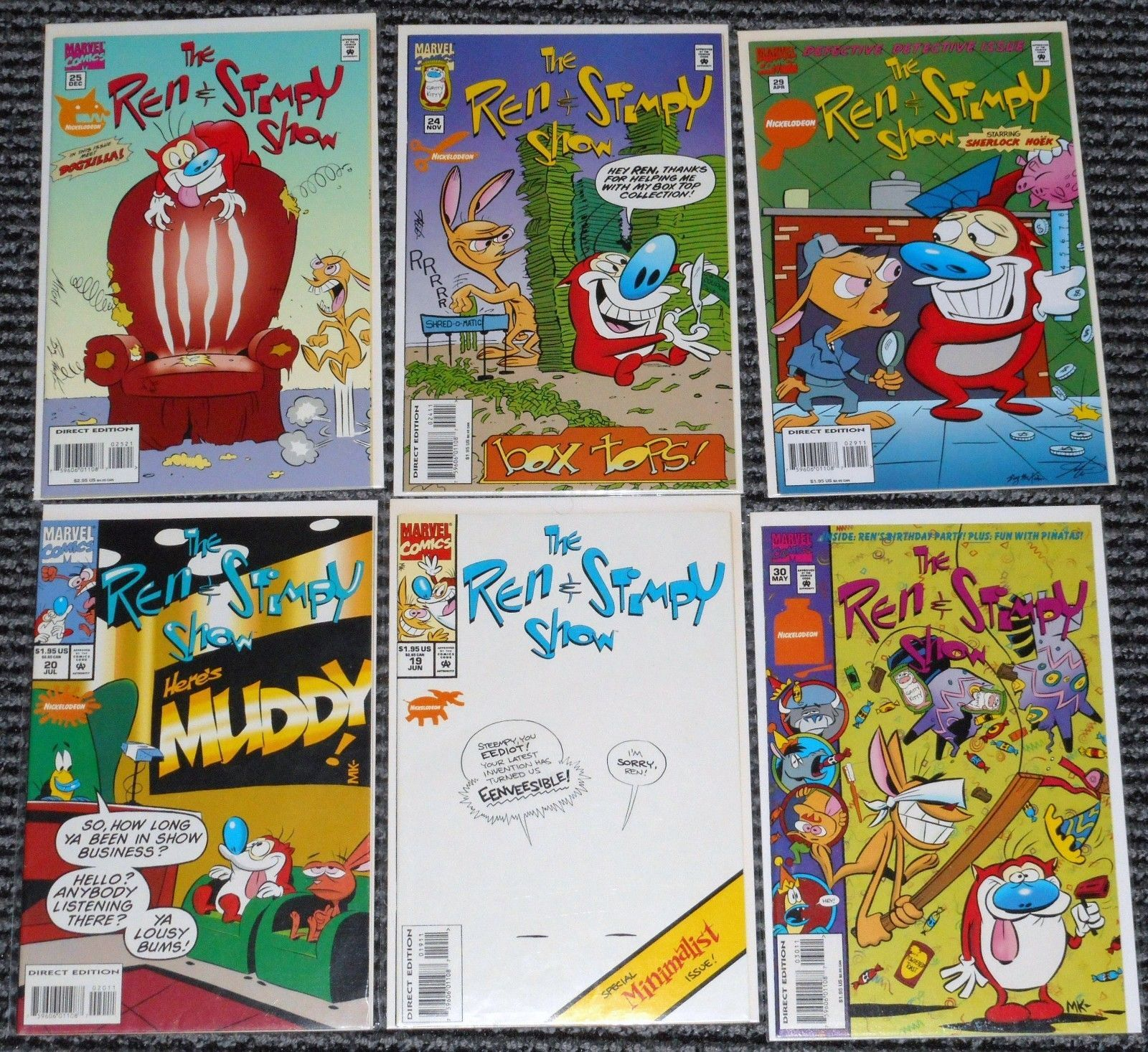 Huge lot of 36 REN & STIMPY Issues MARVEL COMIC BOOKS Cartoon Nick Comics