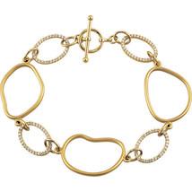 "Diamond Open Silhouette 8"" Bracelet In 14K Yellow Gold (5/8 ct. tw.) - $1,682.99"