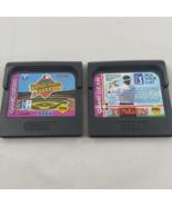 Sega game Gear Lot of 2 Games PGA Tour Golf & World Series Baseball in c... - $11.26