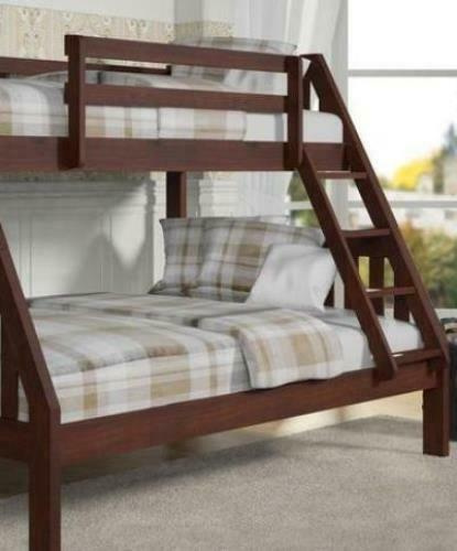 Primary image for Ian Modern Dark Wood Twin over Full Bunk Bed