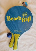 Paddle Ball Beach Tennis Surf Game Set Racquet Ball Wooden Paddle Fresco... - $8.89