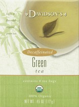 Davidson's Tea Decaf Green Tea, 8-Count Tea Bags (Pack of 12) - $52.63