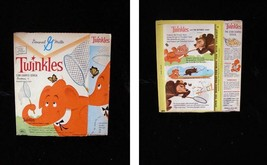 General Mills Twinkles Cereal Box 1960s Twinkles and the Butterfly Hunt - $54.99