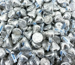 Hershey's Kisses Candy, Milk Chocolate Silver Foil 100 Candies Per Pound - $19.39+