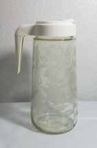 TANG Pitcher Promotion Mixing Etched Frosted Lillies Plastic Lid Drink R... - $24.69