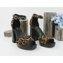 Michael Kors Amal Butterscotch Calf Hair Leather Platform Pumps 7 NIB - $108.41