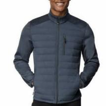 32 DEGREES Mens Mixed Media Jacket Slate (Blue) Two Sizes NWT - $21.99