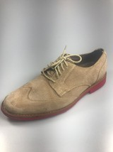 COLE HAAN Drake Eva Wingtip Oxford Tan Suede Nubuck Red Sole Men's Size ... - $26.17