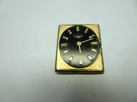 Longines Wittnauer 528 Vintage Black Dial Watch Runs Stops For Restoration - $178.99