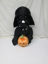 "Star Wars Darth Vader Halloween Greeter Vader 20"" Plush Holding Pumpkin  - $51.97"