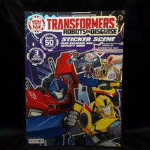 Transformers Robots In Disguise Sticker Scene Coloring and Activity Book - $5.99