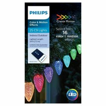 Philips 25 C9 LED Create Motion Multi-Color String Lights 24ft Green Wir... - $41.95