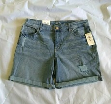 Style & Co Women's Zippered Mid Rise Cutout Blue Anchor Short Size 12 - $24.31
