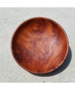 Wood Salad Bowl Redwood Burl Bowl Hand Turned 5 Inch Handmade California... - $72.99