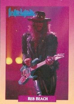 Reb Beach trading Card (Winger) 1991 Brockum Rockcards #68