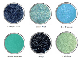 Sparkly Black Eye Shadow Teal Blue Summer Spring Green Eyeshadow Makeup ... - $5.99