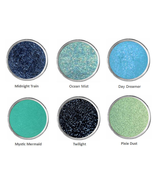 Sparkly Black Eye Shadow Teal Blue Summer Spring Green Eyeshadow Makeup ... - $5.99
