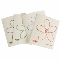 SKOY™Cloth Earth Friendly 100% Biodegradable/Natural 4 Pk White Flower P... - $7.99