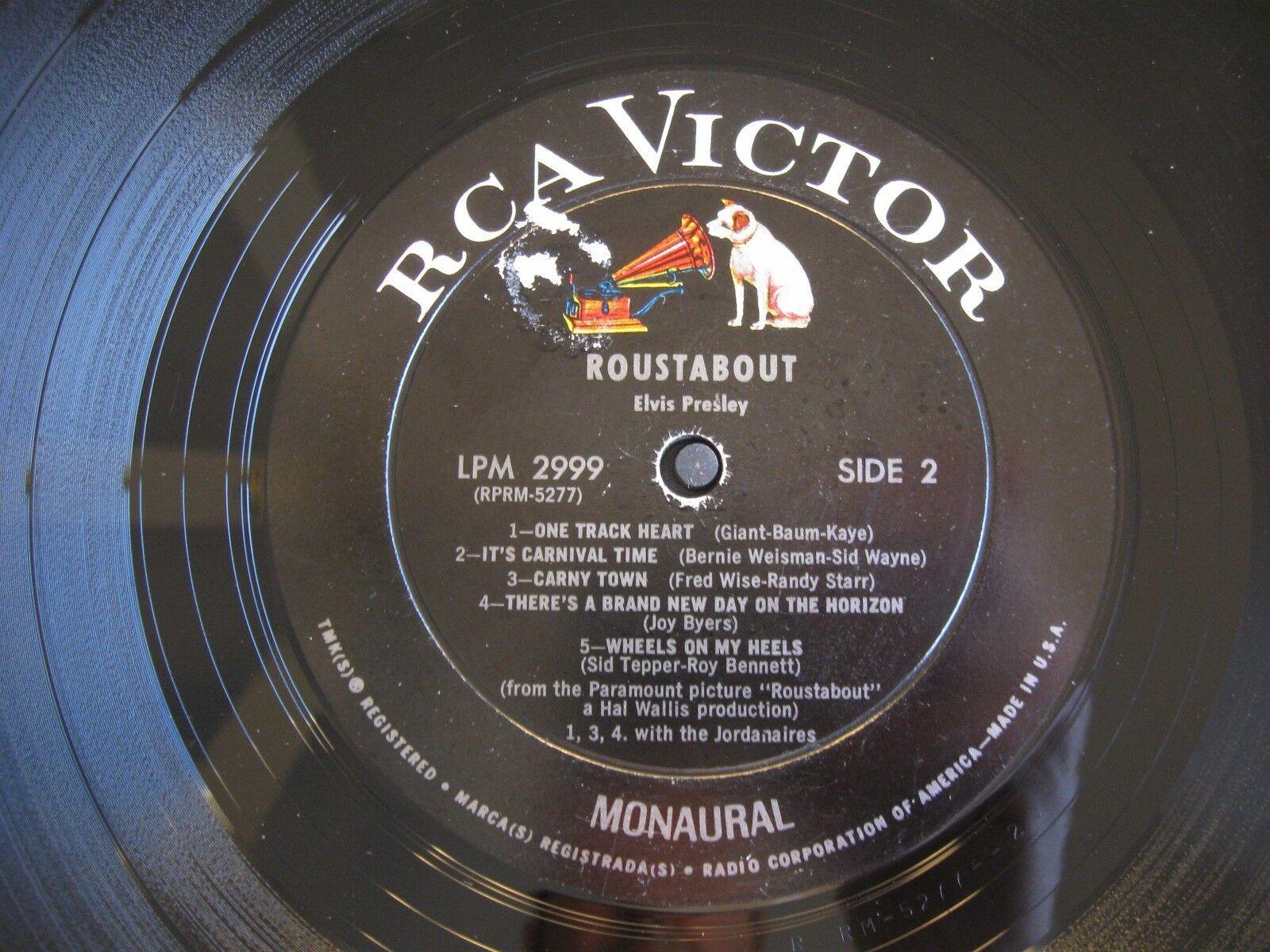 Elvis Presley Roustabout RCA LPM-2999 Mono Vinyl Record LP image 5