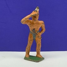 Cast iron cowboy indian lead toy soldier native american western mohican... - $29.65