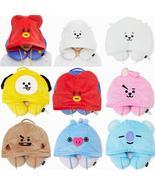 8 Style BT21 Kawaii Cotton Hooded U-shaped K Pop BTS Bangtan Boys Korean... - $18.99+