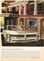 Vintage 1964 Magazine Ad Pontiac Go To New York Worlds Fair In A New Pontiac - $5.93