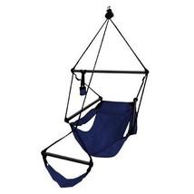 New Hammaka Hanging Hammock Air Chair Aluminum Dowels Blue Hammocks Pati... - $49.45