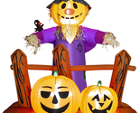 HOOJO 6 FT Halloween Inflatable Scarecrow with Pumpkins Outdoor Decoration with